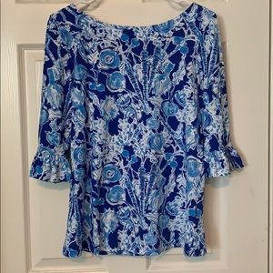NWT Lilly Pulitzer Ruffle Top
